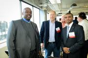 SwitchPitch, a role-reversal event that allows corporations to pitch their project needs to qualified startups, was held March 21 at 1776 in downtown D.C. Jeff Downs of Oober Cloud, left, and Gregory Hedgepeth of Our Communications.