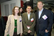 SwitchPitch, a role-reversal event that gives corporations an opportunity to pitch their project needs to startups, was held March 21 at 1776 in downtown D.C. From left, Angelyn Pinter of the Sayer Foundation, Amir Hudda of Naaya and David Steinberg of Exhilarator.