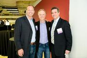 SwitchPitch, a role-reversal event where corporations pitch their needs to qualified startups, was held March 21 at 1776 in downtown D.C. From left, David Steinberg of Exhilarator, John Sculley of Open Peak and Devin Schain of CampusMD.