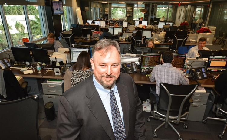 John Radtke, CEO of Incapital in the middle of the trading floor.