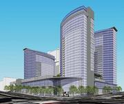 Rubicon Equities of Nashville proposed a $313.8 million mixed-use development with a 29-story glass tower with 400-450 hotel rooms, a 28-story tower with as much as 500,000 square feet of office space and a 24-story tower with 400-450 apartments.