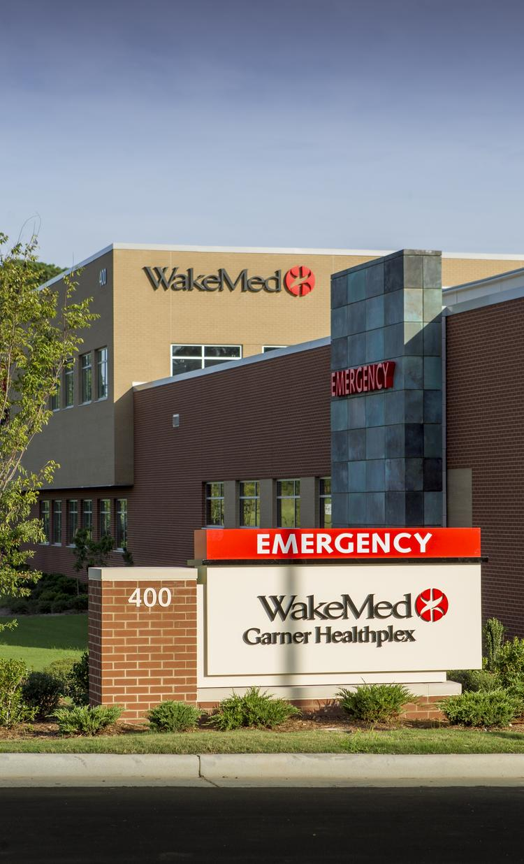 A shot of the new WakeMed Garner Healthplex. WakeMed Health & Hospitals was recognized for its website transparency.