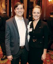 John Thornton of Astrobotic Technology Inc. and his wife,  Justine Kasznica Thornton of Schnader Harrison Segal & Lewis LLP.