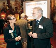 """Lindsay Petrosky of Jackson Kelly PLLC and Robert Beatty of """"O"""" Ring CNG Fuel Systems LP."""