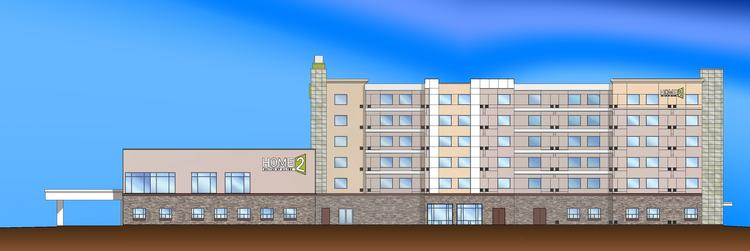 A hotel that has sat empty for four years is set to be a Home2 Suites by Hilton. Hilton Worldwide said Wednesday a franchise license agreement to operate the all-suite hotel brand was completed with Albuquerque's Allen Sigmon Real Estate Group and Total Management Systems Inc. A rendering is pictured.
