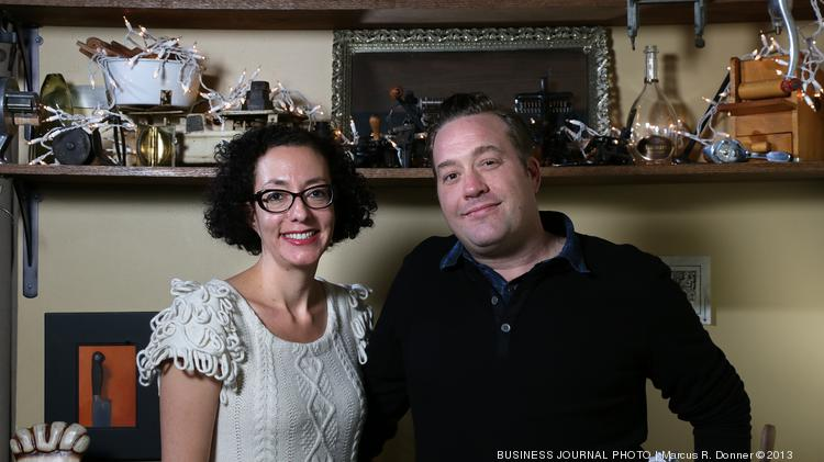 Chef Mike Easton, right, shown with Victoria Diaz Easton, his wife and Il Corvo co-owner, believes in equal tip sharing to avoid staff conflict.