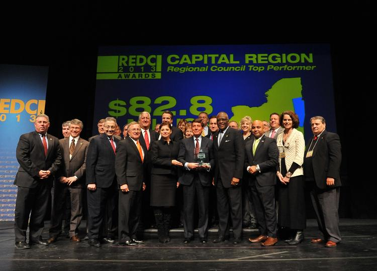 The Capital Region received $82.8 million in state funding as a top performer in this year's statewide regional economic development awards today at The Egg in downtown Albany.