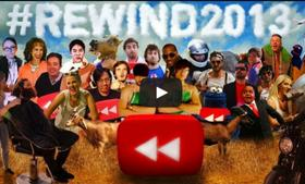 YouTube recapped 2013 by bringing together some of its top creators. How many can you recognize in this video.