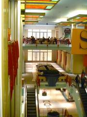 A view of the former Neiman Marcus entrances on the third and fourth floor as seen from inside the adjoining Gaviidae Common II retail center.