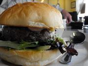R.E. Graswich gave thumbs-up to The Eatery's grass-fed burger.