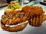In lieu of the burger he let his interviewer eat, R.E. Graswich ordered The Firehouse's Asian-style chicken sandwich and deemed it equally good as the restaurant's burger.