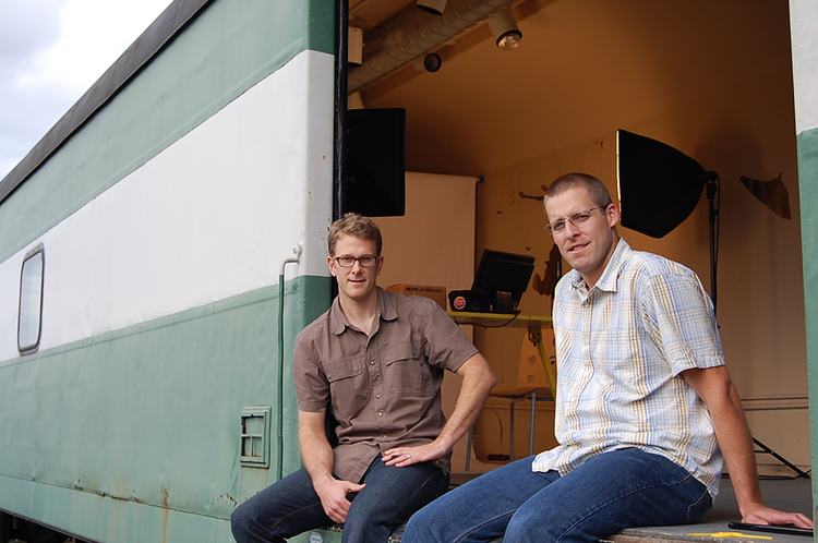 Fritz Brumder (left) and Ben McKinley co-founded Brandlive. The company's software enables the production of live branded videos that don't have to be downloaded to be viewed.