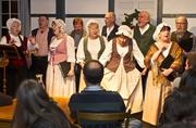 The Ohio Village Singers entertained with tavern songs and carols.