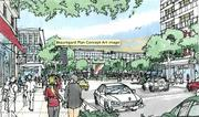 A rough sketch of the JBG Cos.' planned Beauregard town center in Alexandria.