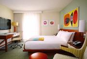 A guest room at the newly renovated and rebranded Shoreline Hotel Waikiki.