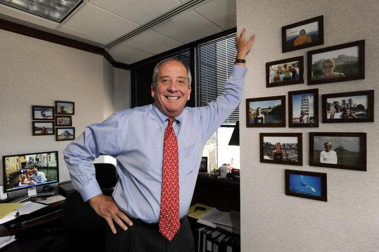 Perry Brandt, a partner at Bryan Cave LLP, says he likes to surround himself with photos of his family as a reminder of what's most important to him.