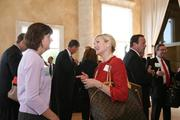 Attendees network before the luncheon.