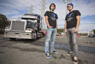 Viktor Radchinko, left, and Ivan Tsybaev built an app to pair truckers with shippers.<br /> CEO: Ivan Tsybaev<br /> Headquarters: Mountain View<br /> Founded: October 2013<br /> Employees: 2<br /> Web: www.truckerpath.com<br /> Phone: 347.549.5684