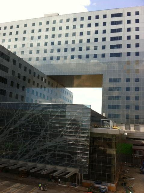 With external construction on the new Parkland Memorial Hospital nearly complete, construction teams have moved inside.