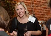 Kristin Stang of J.P. Weigand & Sons Inc. at the BizWomen Holiday Mix and Mingle Tuesday night at The Loft at 420, 420 S. Commerce.