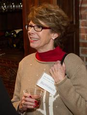 DeeAnne Fahnestock of Fahnestock Plumbing, HVAC and Electric at the BizWomen Holiday Mix and Mingle Tuesday night at The Loft at 420, 420 S. Commerce.