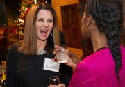 Karen Cox of ProviDRs Care at the BizWomen Holiday Mix and Mingle Tuesday night at The Loft at 420, 420 S. Commerce.