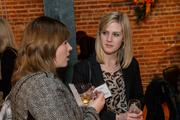 Julia Thead of IMA Inc. at the BizWomen Holiday Mix and Mingle Tuesday night at The Loft at 420, 420 S. Commerce.