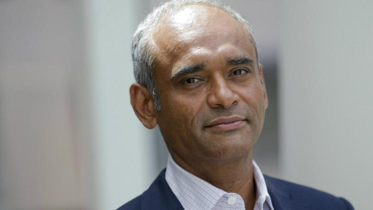 Chet Kanojia, chief executive officer and founder of Aereo Inc., stands for a photograph following a Bloomberg Television interview in New York, U.S., on Wednesday, July 31, 2013.