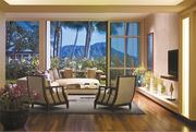 The living space in the Orchid Suite at the Halekulani and its expansive views of Diamond Head are two of the reasons that this room ties for the seventh-most-expensive one in the state.