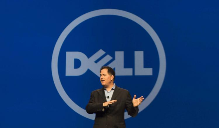 Michael Dell speaks to attendees at Dell World 2013. Denali Holding Inc. reported a planned $50 million funding in a Dec. 19 filing with the U.S. Securities and Exchange Commission.