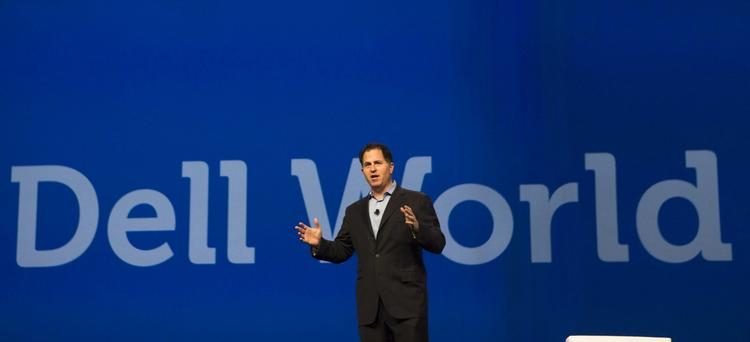Michael Dell speaks to attendees at Dell World 2013.