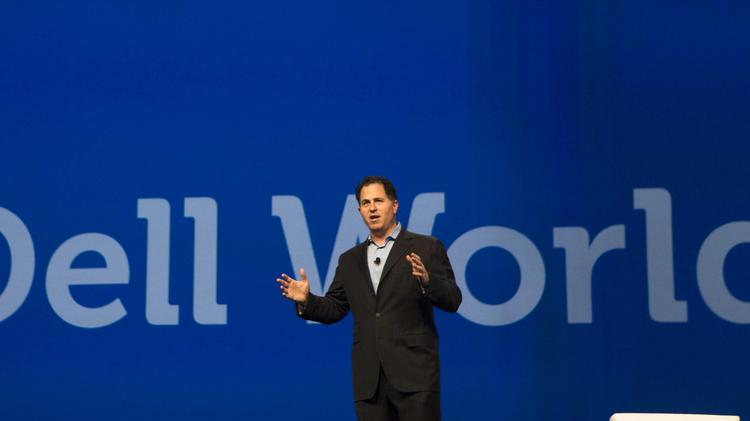 Dell Inc. CEO Michael Dell speaks to attendees at Dell World 2013.