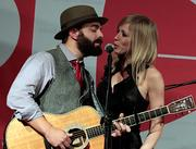 Drew Holcomb and Ellie Holcomb of Drew Holcomb and the Neighbors perform during the Red Tie Gala.