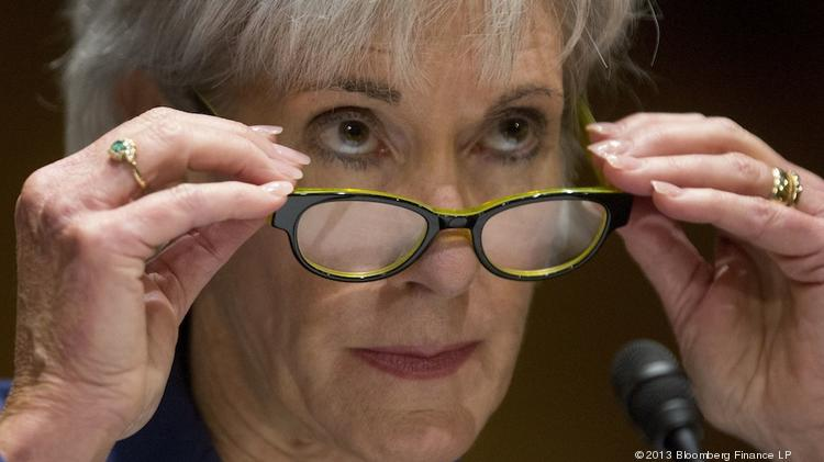 Kathleen Sebelius, secretary of Health and Human Services (HHS), said more than 733,000 Texas residents have signed up for health insurance through the marketplace so far. Photographer: Andrew Harrer/Bloomberg