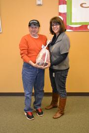 APCOM'S Deeann Macomber with Don, a BrightStone adult