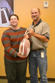 APCOM'S John Myers, with Benny, a BrightStone adult