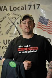 Jared Thayer, an assembly worker at Remington Arms.