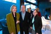 Boffi Maxalto celebrated the opening of its Georgetown showroom March 21. Taking part in the festivities were, from left, Victoria and Douglas Rixey of Rixey and Rixey Architects and Elise Robinson of Bowie Gridley Architects.