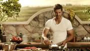 Beefcake actor Anderson Davis stars in a new Kraft Zesty Italian salad dressing campaign.