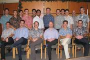 BEFORE: First Hawaiian Bank employees, including tellers, customer service representatives, personal bankers, assistant vice presidents and senior vice presidents, pose with the moustaches they grew for the annual worldwide No Shave November charity event to raise funds and create awareness for testicular and prostate cancers. Back row, from left: Sean Spencer, Arnel Mejia, Chad Asato, Luke Young, David Takara, Warren Dela Rosa, Greg Hackler, Mike Anduha, John Anbe, Thomas Choy, Craig Kuper, Yoshi Tsurumi. Front row seated, from left: John Julian, Chris Dods, Logan McBarnet, Matt Lazzaro, Cormick Barnes, and Brandon Racine.