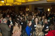It was a full house during the social hour at the Boston Business Journal's WomenUp awards breakfast at The Westin Boston Waterfront Hotel.