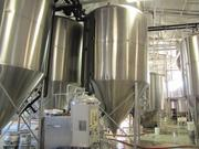 Fermentation tanks in the brewing facility at Yards Brewing Co.