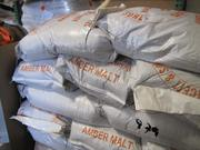 Bags of malt in the brewery.