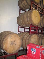 Oak bourbon barrels are used for special-edition beers.