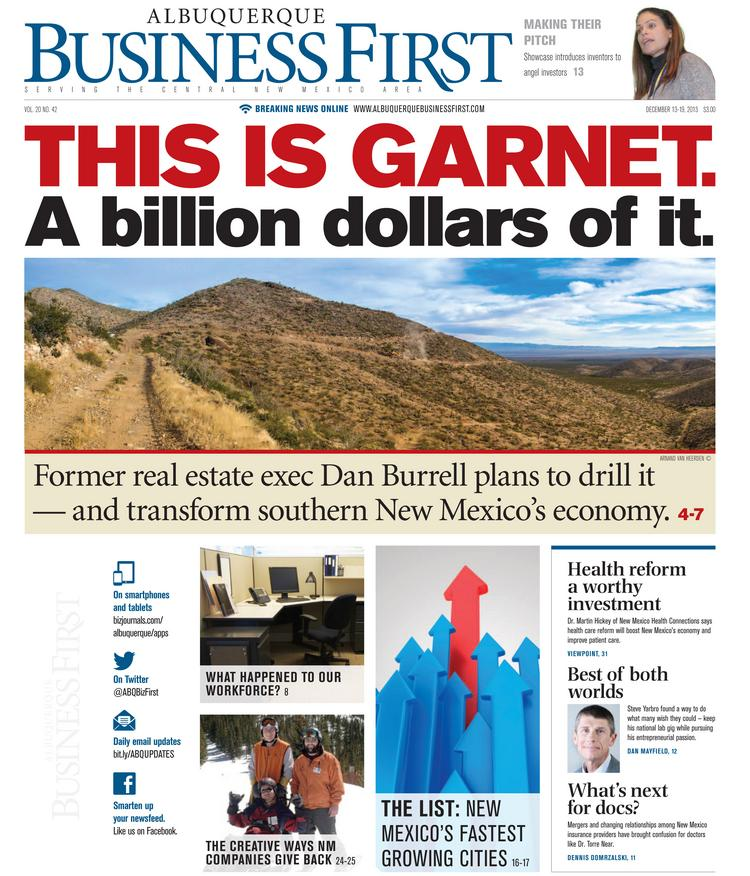 Damon Scott's Dec. 13 cover story gives readers the first in-depth look at Dan Burrell's plan for a garnet mine, the significance of the garnet find, how it could impact the local economy and what brought Burrell to this point. We've unlocked this cover story so our social media followers can read it for free right now.