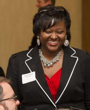 Ebony Clemons of Wells Fargo at the Best Places To Work luncheon.