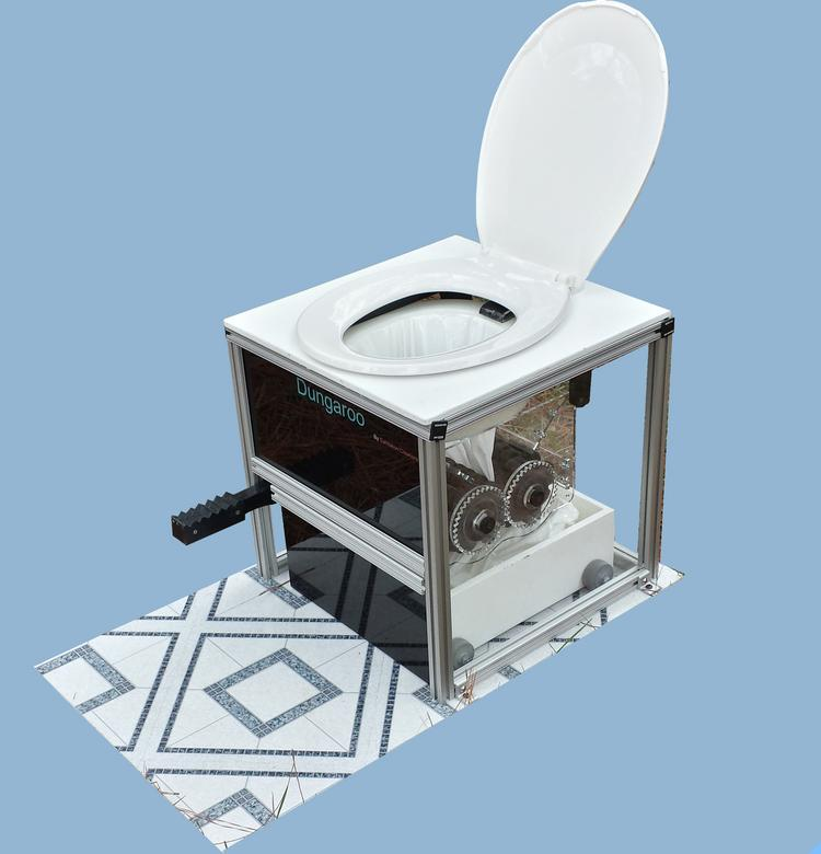 """A Chapel Hill entrepreneur conceived of the """"dungaroo,"""" a waterless toilet that can be retrofitted into boats."""