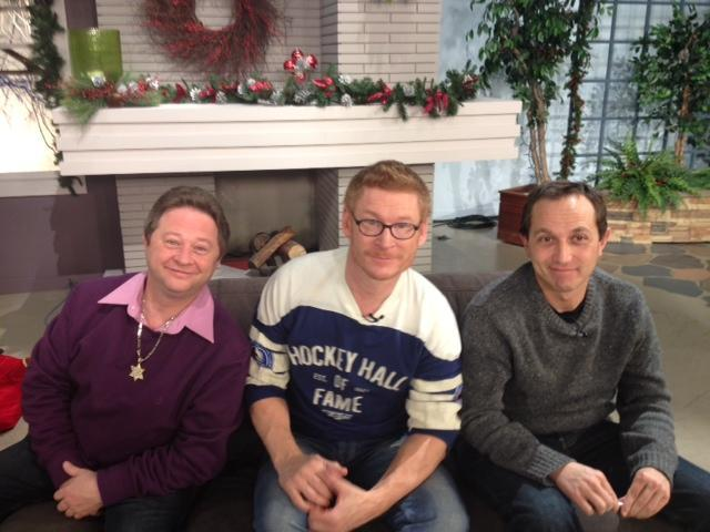 Cast members from A Christmas Story are in Buffalo to promote the 30 anniversary of the holiday classic movie. From left: Scott Schwartz (Flick), Zack Ward (Scut Farkus) and Ian Petrella (Randy Parker.)