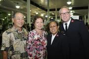 "From left, Maj. John Chamness, divisional commander of The Salvation Army, and his wife, Maj. Lani Chamness, Christine and David Arita, president of American Carpet One at at ""Chefs for Hope"" a fundraiser for Haiyan typhoon victims, a benefit for The Salvation Army Haiyan Relief Fund at the Neal Blaisdell last month. The event brought a group of local chefs, entertainers and food and beverage industry professionals together to help raise money for the Haiyan typhoon victims, with 100 percent of the proceeds from ticket sales going to the Salvation Army."