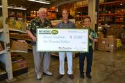 Nordic PCL donated $10,000 to the Hawaii Foodbank on Nov, 22 at the foodbank's headquarters in Honolulu. From left, Dick Grimm, CEO of Hawaii Foodbank; Aaron Wiehe, district manager of Nordic PCL Construction and Glen Kaneshige, president of Nordic PCL Construction.